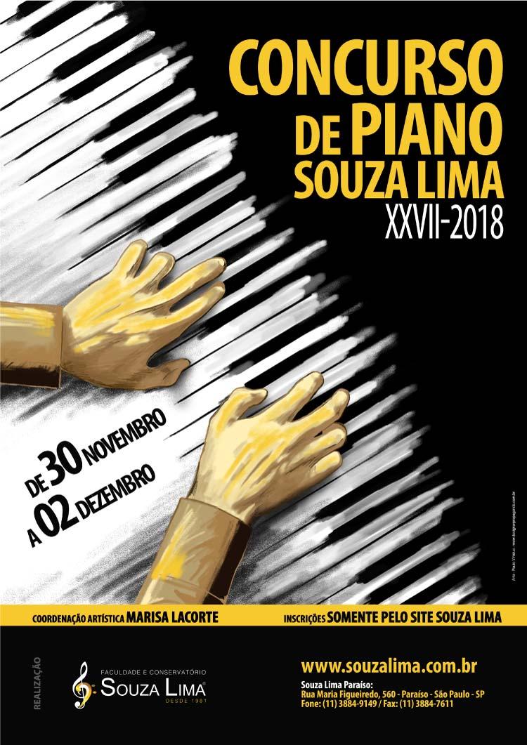 Ilustração Concurso de Piano Conservatório e Faculdade Souza Lima